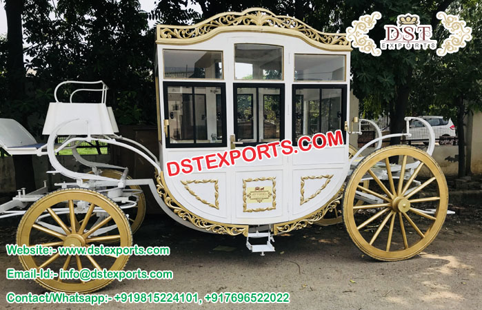 Royal Covered Horse Drawn Carriages