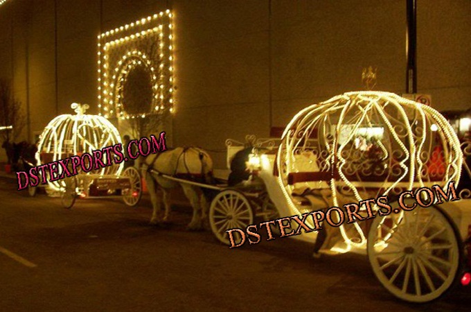 Wedding Lighted Cinderella Horse Carriages