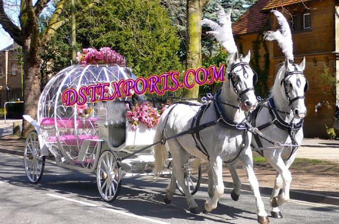 Beautiful Cinderala Double Horse Carriages