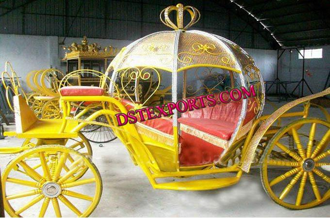 Golden Cinderella Horse Carriage For Sale