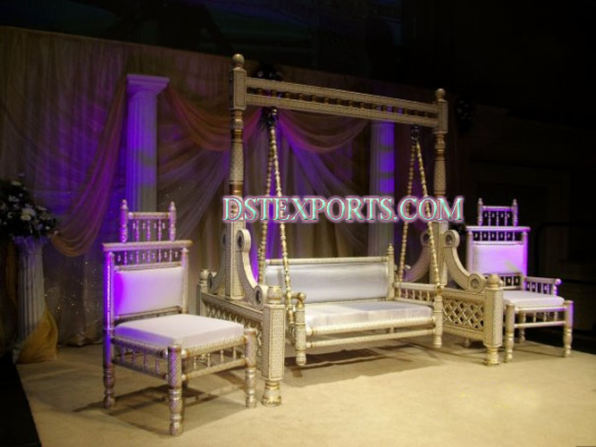 LATEST INDIAN WEDDING SANKHEDA SWING SET