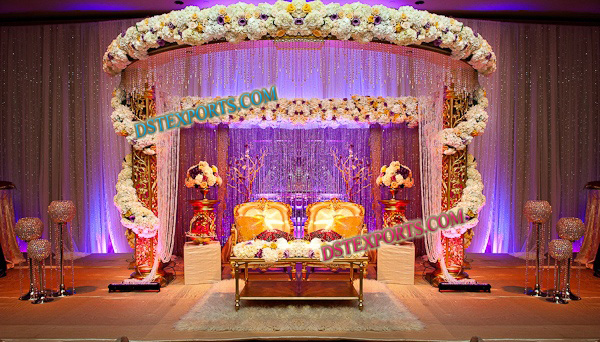 WEDDING MANDAP CRYSTAL DECORATIONS