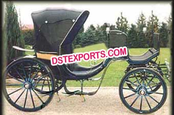 Horse Drawn Black Carriages