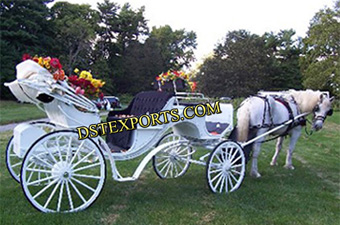 Decorated Wedding Horse Carriage