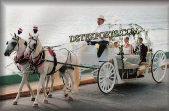 Cinderella Decorated Wedding horse Carriage