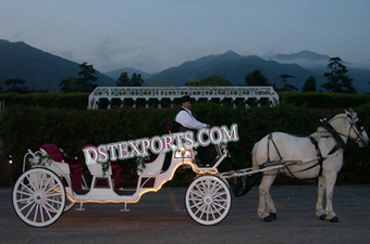 Lighted Wedding Horse Carriages