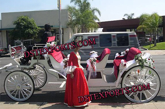 Decorated Wedding Horse Carriages