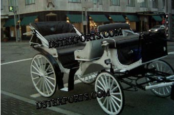 Antique Black Horse Drawn Carriages