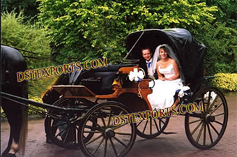 Wedding Black Victoria horse Carriages