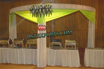 Decorated Wedding Food Stall