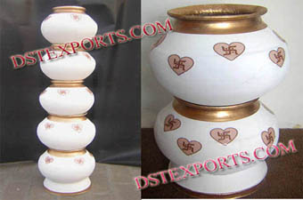 Indian Wedding Decorated Pots