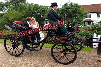 New Black Victoria Horse Drawn Carriage