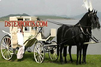Wedding Glass Covered Horse Carriages