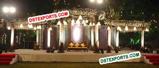 Wedding Crystal Mandap With Crystal Bells For Sale