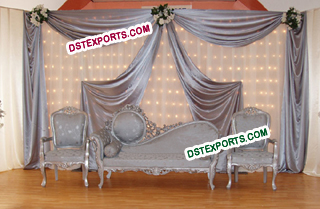 Asian Wedding Silver Furniture