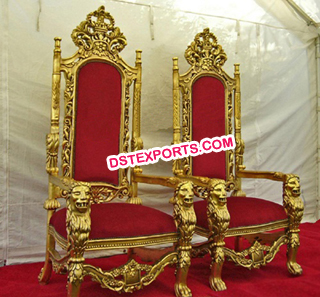 Shaadi Stage Golden Chairs