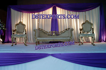 Wedding Silver Carving Furniture Sofa Set