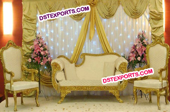 Asian Wedding Gold Furniture For Sale