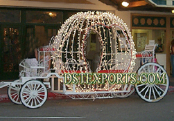 WEDDING CINDERELLA CARRIAGES  WITH LIGHTING