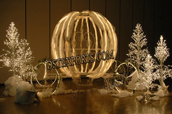 Fully Lighted Cinderella Carriages