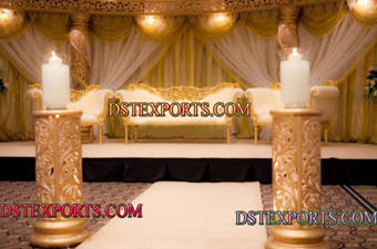 Asian Wedding Gold Stage Decoration