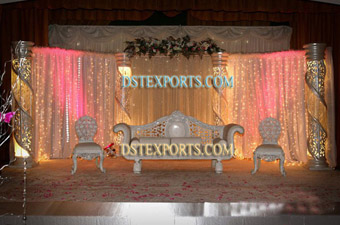 Latest Asian Wedding Crystal Stages