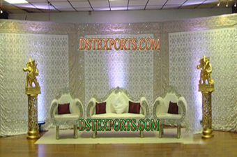 Latest Asian Wedding Silver Stage For Wedding