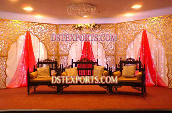 Muslim Walima Stage With Antique Furnitures