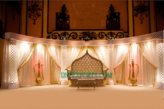 Latest Asian Wedding Light Crystal Stage
