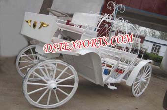 Indian White Victoria Horse Carriage