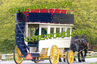 Double Decor Tourist Horse Drawn Carriage