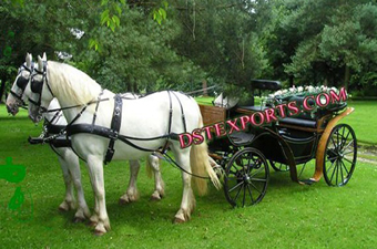 Black Gold Victoria Horse Carriages