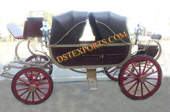 Wedding Black Royal Horse Carriage