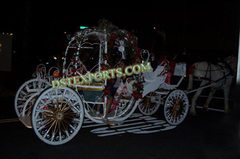Lighted Wedding Cinderala Horse Carriage