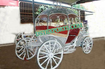 Wedding White Crystal Horse Cinderalla Carriage