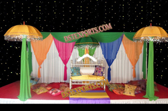 COLOURFULL MEHANDI STAGE SET