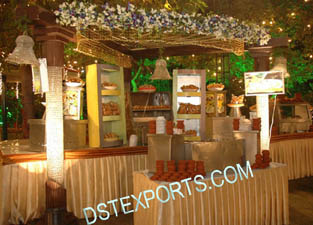 WEDDING STALLS WITH CRYSTAL PILLARS