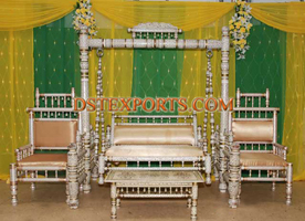 WEDDING SANKHEDA SWING WITH CHAIRS