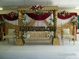 WEDDING CARVED SWING STAGE