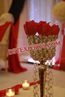 WEDDING CRYSTAL ROSE STAND