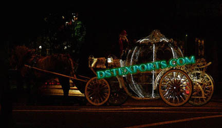 LIGHTED CINDERALLA HORSE CARRIAGES