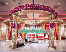 INDIAN MARRIAGE GOLDEN CARVED MANDAP