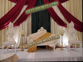 ASIAN WEDDING ELEGENT WHITE FURNITURE