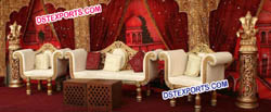Latest Asian Wedding Golden Furniture For Sale