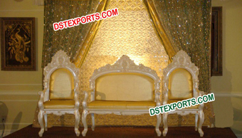 Asian Wedding Pearl Gold Sofa Set For Sale