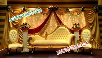 Muslim Shadi Stage Furniture Set For Wedding