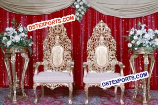 Muslim Wedding Heavy Carving Chairs For Wedding