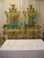 LATEST ASIAN WEDDING GOLDEN CHAIRS SET