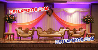 Asian Wedding Heavy Carved Sofa Set For Wedding