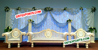 Asian Wedding Pearl Blue Furniture Set